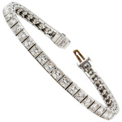 Tiffany & Co. Art Deco Diamond Platinum Tennis Bracelet