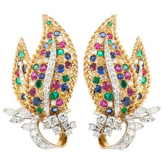 Oscar Heyman Leaf Earrings
