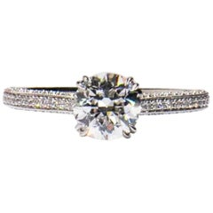 1.24 carat Old Euro cut Diamond Engagement Ring