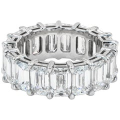 Emerald Cut Diamond Eternity Band, GIA Certified