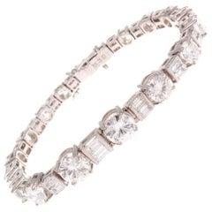 Bucherer Approximately 10 Carat Diamond Platinum Bracelet