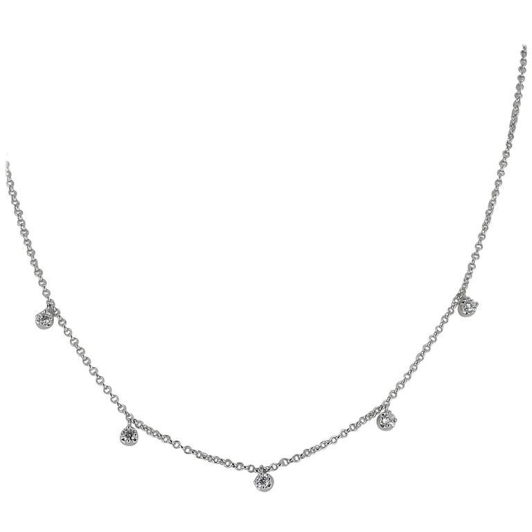 0,36 Carat Diamond Choker Necklace White Gold