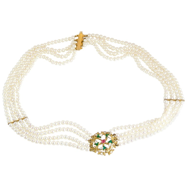 Edwardian Bespoke Pearl Necklace
