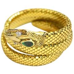 1930s 18 Karat Mesh Snake Bracelet