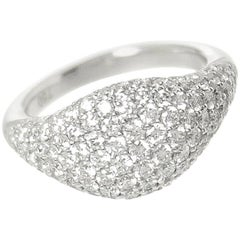 Petite Pavé Pinky Diamond Ring 18 Karat White Gold