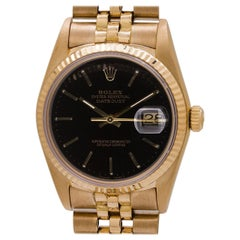Rolex Yellow Gold Datejust Self Winding Wristwatch Ref 16018, circa 1986
