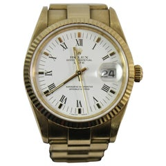 2000s 18 Karat Gold Rolex Men's Oyster Perpetual Watch