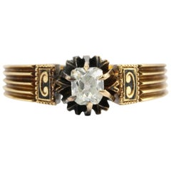 Victorian Gold .25 Carat Old Mine Engagement Ring, circa 1880s