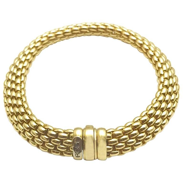 Fope Italian Designed 18 Karat Yellow Gold Link Bracelet