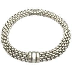 Fope Italian Designed 18 Karat White Gold Bracelet