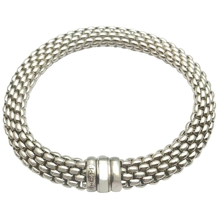 Fope Italian Designed 18 Karat White Gold Bracelet For Sale At 1stdibs