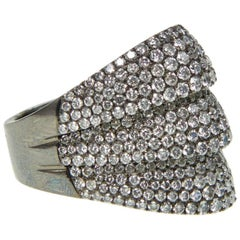 Diamond Blackened Gold Ring