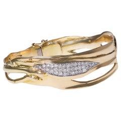 1985 Charles de Temple, Diamond and Polished Gold Bracelet