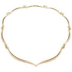 Modernistic David Webb 18 Karat Necklace