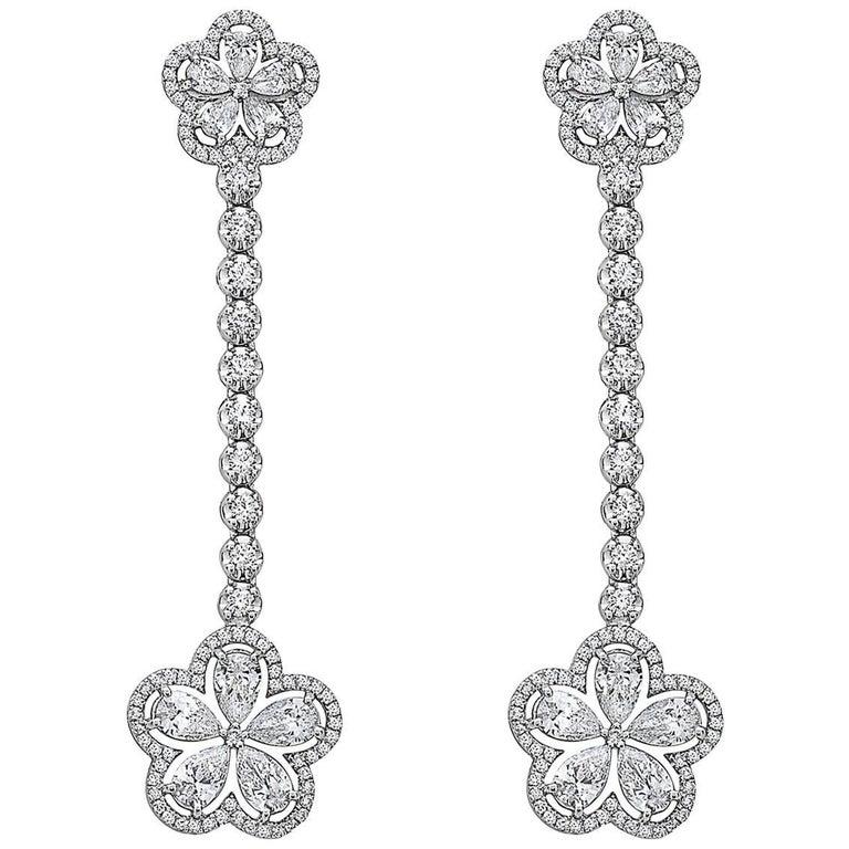 Emilio Jewelry Dangle Flower Earring