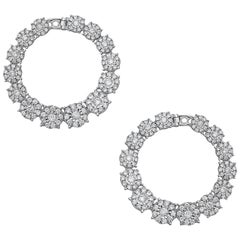 Emilio Jewelry 3.02 Carat Gorgeous Fancy Diamond Earrings