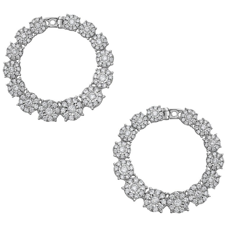 Emilio Jewelry 3.02 Carat Gorgeous Fancy Diamond Earrings