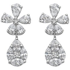 Emilio Jewelry Petite Flower and Teardrop Dangle Earring
