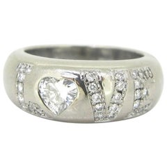 Chopard Heart Shape 0.40 Carat Diamond Love White Gold Band Ring