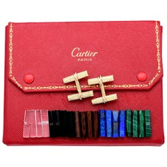 Cartier 1960s Trinity 18 Karat Yellow Gold Cufflink Set Collector's Special