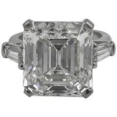10.37 carat Emerald Cut Diamond Platinum Engagement Ring