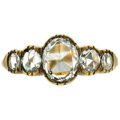 Georgian inspired five stone ring