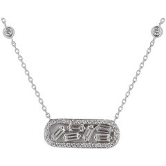 Diamond GVS Pendant White Gold Baguettes and Brillants