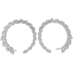 GVS Certified 1.81 Carat Diamond Earrings and White Gold