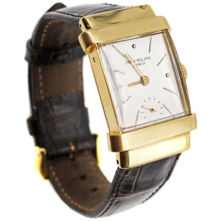Patek Philippe yellow gold Vintage Top Hat Manual Wristwatch, circa 1949