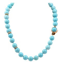 1960s Persian Turquoise Bead Necklace