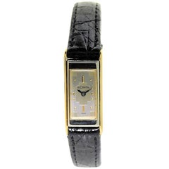 Jaeger LeCoultre Ladies White and Yellow Gold Backwinding Duo/Plan Wristwatch