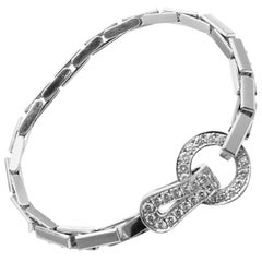 Cartier Agrafe Diamond White Gold Bracelet