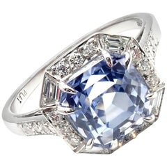 Ivanka Trump Diamond Sapphire Platinum Engagement Ring