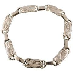 1930s-1940s Vintage Danish Modern Design Silver Bracelet