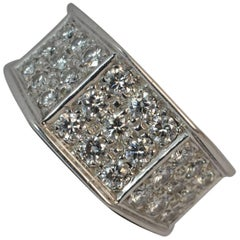 Boodles 1.00 Carat Vs Diamond and 18 Carat White Gold Cluster Ring