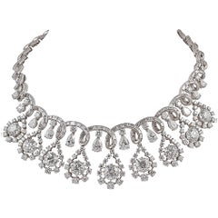 Platinum Diamond Necklace, circa 1960s