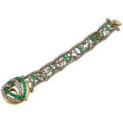 19th Century of Saxony Historical and Royal Emeralds and Diamonds Bracelet, 1853