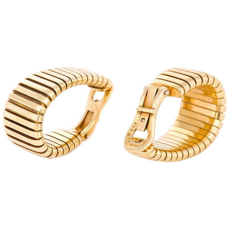 Bvlgari Tubogas Clip-On Earrings