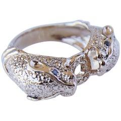 Black Diamond Jaguar Ring