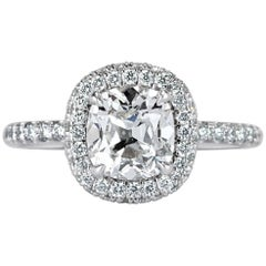 Mark Broumand 2.20 Carat Old Mine Cut Diamond Engagement Ring