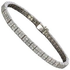 Bez Ambar Quadrillion Cut White Gold 11.88 Carat Diamond Bracelet