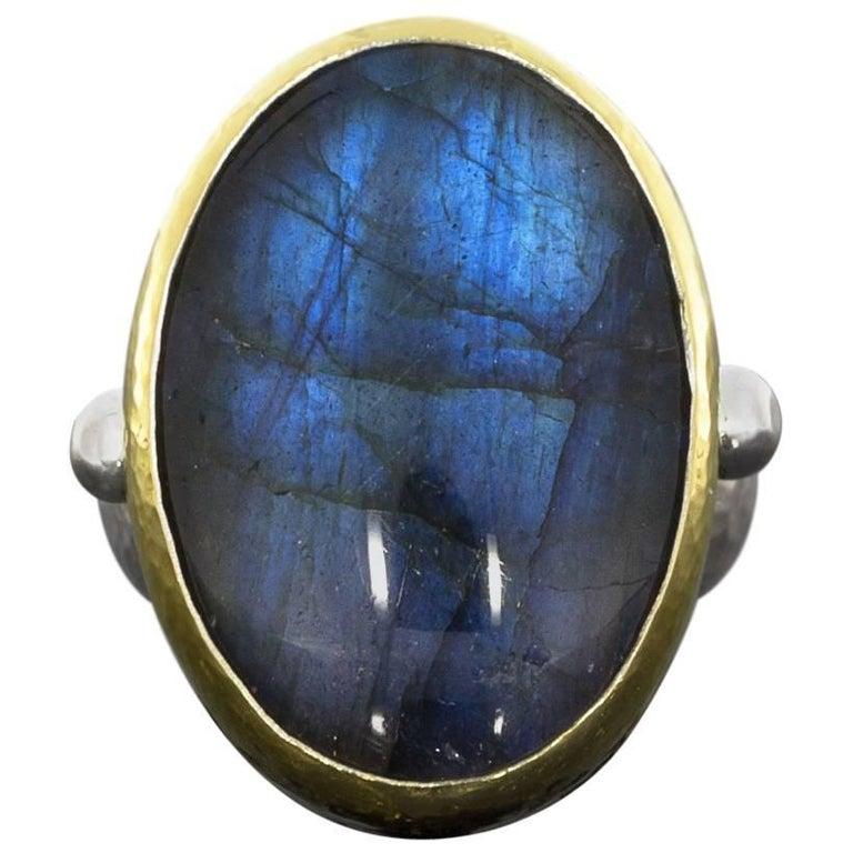 Gurhan Galapagos Collection Labradorite Bezel Ring