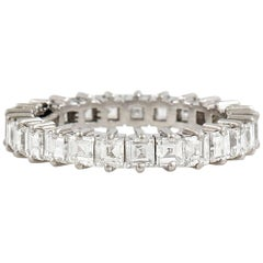square cut diamond Eternity Wedding Band