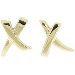 Tiffany & Co. Paloma Picasso Yellow Gold Earrings