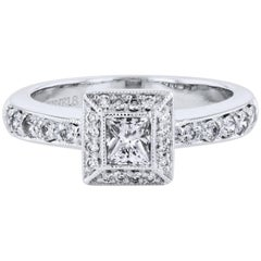 H & H 0.35 Carat Diamond Engagement Ring