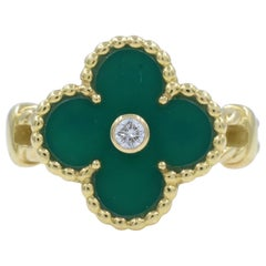 Vintage antique jade jewelry necklaces earrings more for green vintage vca alhambra clover jade ring aloadofball Gallery