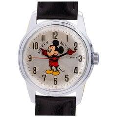 Helbros base metal Mickey Mouse manual wristwatch, circa 1970s