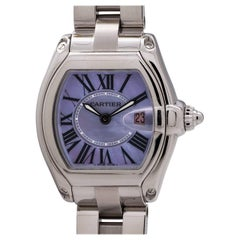 Cartier Ladies Stainless Steel Mother-of-Pearl Dial Roadster quartz Wristwatch