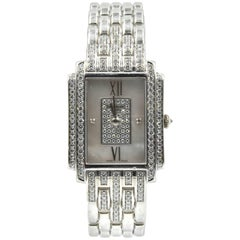 Patek Philippe Ladies white gold Diamond Gondolo Quartz Wristwatch Ref 4825