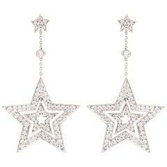 Tiffany & Co. Platinum Dangle Star Earrings